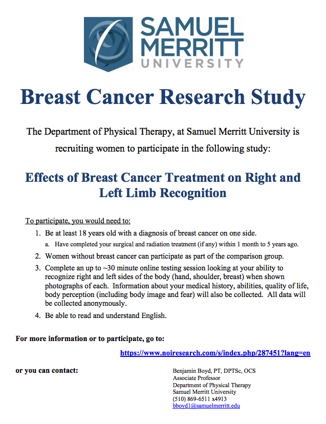 Research study on breast cancer