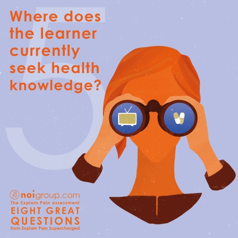 infographic 5 - wher does the learner currently seek health knowledge
